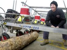 Chris, with a range of his portable sawmills