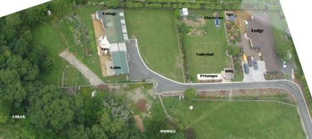 Aerial photo of Aria's Farm